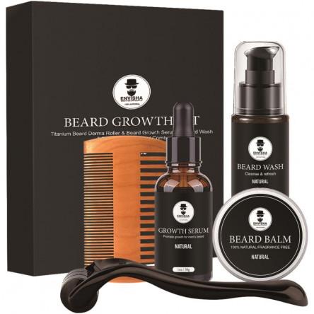 Perfect Beard Growth Kit for Men Promote Hair Beard Growth Kit 5PCS/SET