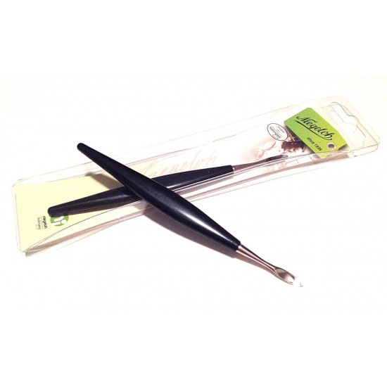 Free with order $50 or more   Niegeloh Solingen Nickel Plated Nail Cleaner with black handle 12cm Germany