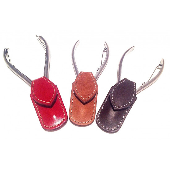 Niegeloh Solingen Toenail Clipper Hand crafted in Germany 11cm with High Quality Red Leather Case