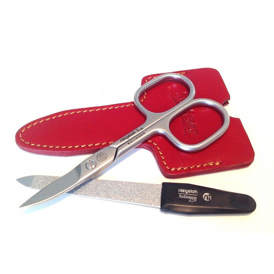 Shpitler High Quality Red Leather Sleeve for Manicure Scissors, Germany 4 inch