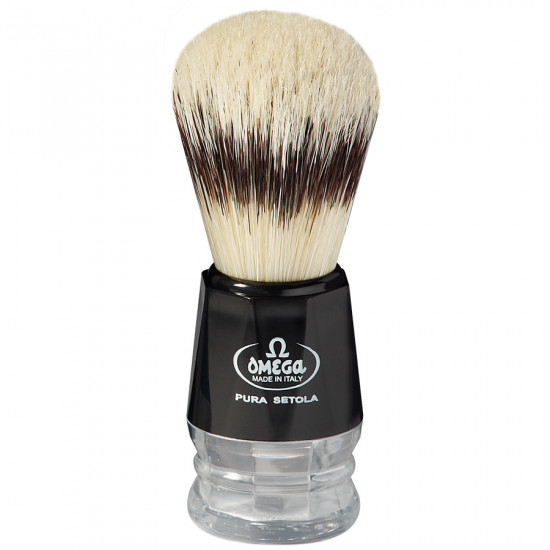 Omega Professional Pure Bristle Shaving Brush, Handcrafted in Italy