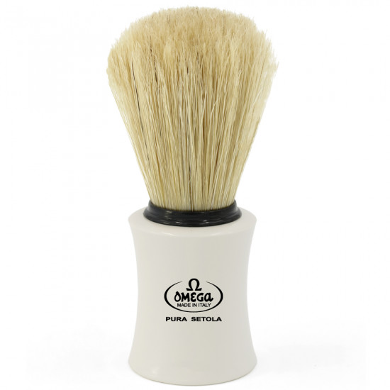 Omega Classic Pure Bristle Shaving Brush, Handcrafted in Italy