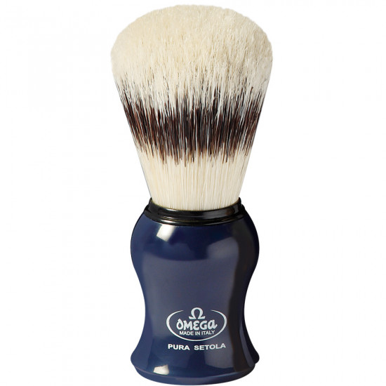 Omega Pure bristle shaving brush with stand Handcrafted in Italy