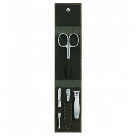 Niegeloh Solingen 4ps German TopInox Top Quality Stainless Steel Manicure set in Leather Case Germany