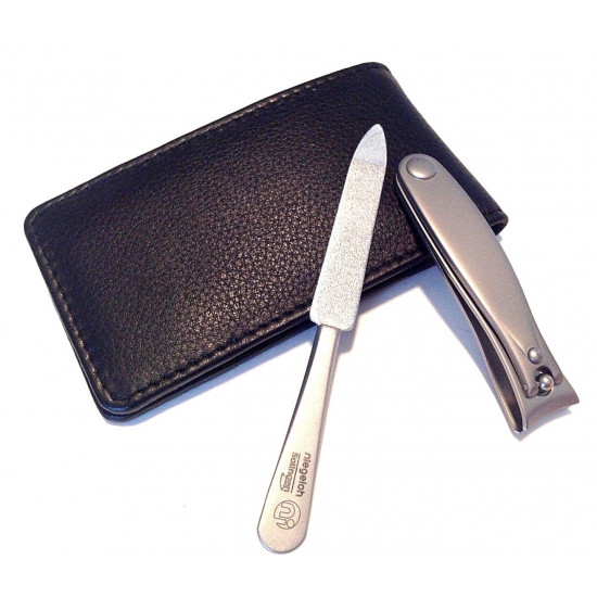Niegeloh Solingen - 2 pcs TopInox manicure set in high quality leather case