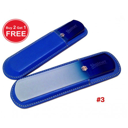 Shpitser Bohemian Crystal Dual Texture Pedicure Bar 6mm thick in high quality leather leather case blue blue