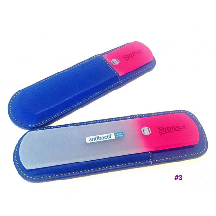 Shpitser Bohemian Crystal Dual Texture Pedicure Bar 6mm thick in high quality leather leather case blue