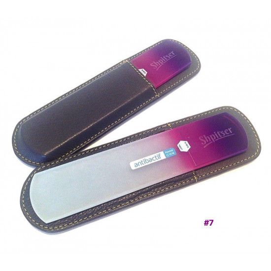 Shpitser Bohemian Crystal Dual Texture Pedicure Bar 6mm thick in high quality leather leather case black purple
