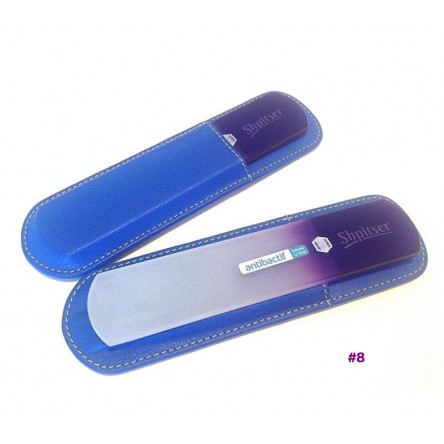 Shpitser Bohemian Crystal Dual Texture Pedicure Bar 6mm thick in high quality leather leather case blue purple