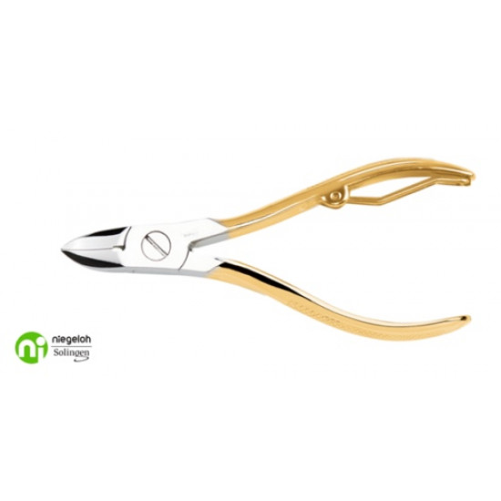 Niegeloh Solingen Nail Nippers 24K Gold Plated Germany