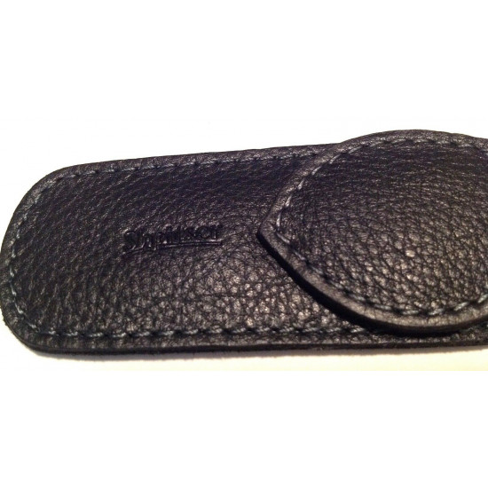 Shpitler Black Leather Pouch For Toenail Clippers or Nippers 3.5Inch