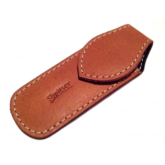 Shpitler 3.5Inch Caramel Leather Pouch For Toenail Clippers or Nippers