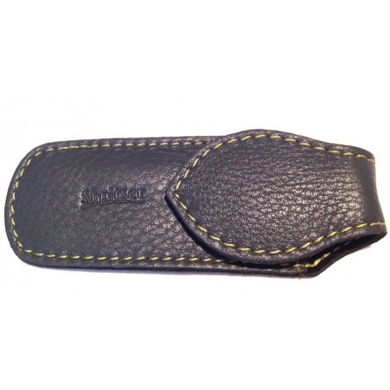 Shpitler Dark Gray Leather Pouch For Toenail Clippers or Nippers  3.5Inch