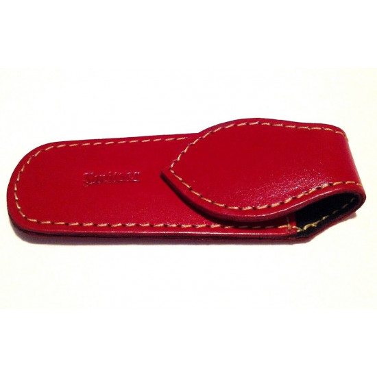 Shpitler 3.5Inch Red Leather Pouch For Toenail Clippers or Nippers