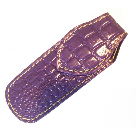 Shpitler Purple Leather Case For Toenail Clippers or Nippers 3.5 Inch