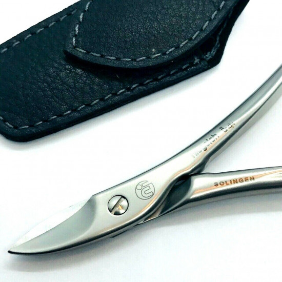 Niegeloh Solingen Toenail Clipper Hand crafted in Germany 11cm with High Quality Black Leather Case