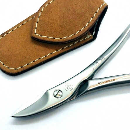 Niegeloh Solingen Toenail Clipper Hand crafted in Germany 11cm with High Quality Caramel Brown Leather Case